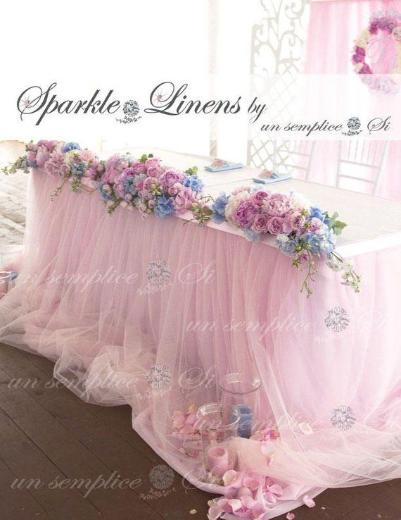 tulle chiffon table skirt 57 length extra long tulle table rh pinterest com