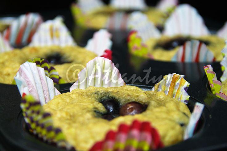 Terapia do Tacho: Muffins energéticos de aveia e mirtilos (Oatmeal and blueberries power muffins)