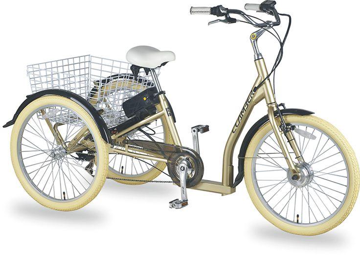 Trehjuling elsykkel, elsykkel med tre hjul