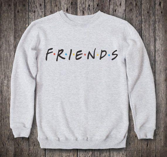 Friends TV Show Clothing Friends TV Show Sweatshirt Friends TV Show Sweater Friends tv Show Pullover Womens Jumper Mens Raglan tv Series 029
