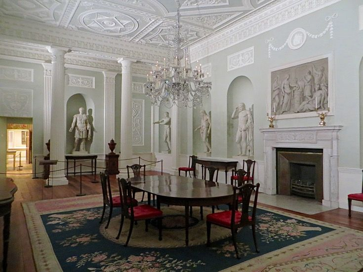 MET MUSEUM OF NYC ADAM DINING ROOM, English, ca.1750 hung with an · Silver  ChandelierAntique ... - 138 Best Antique Lighting Devices Images On Pinterest Antique