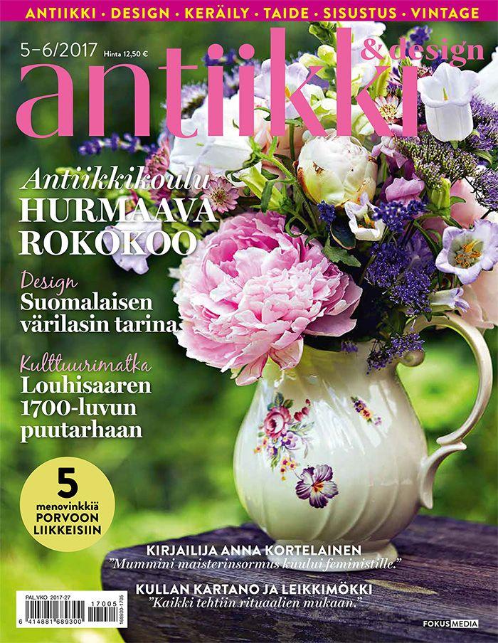 Antiikki & Design 5-6/2017. Kuva: Anna Huovinen, tyyli Arja Löfström.
