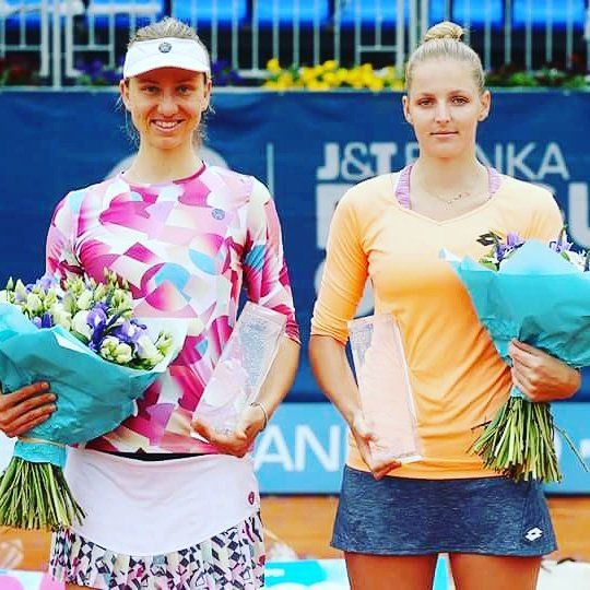 MONA WINS PRAGUE OPEN! ... Qualifier Mona Barthel def. hometown fave Kristyna Pliskova in the Prague Open Championship Final....Mona Barthel claims WTA tournament in Prague --  Three years after her last triumph on the WTA Tour, Mona Barthel of the Porsche Team Germany has won the clay court tournament in Prague.  inewcars.com 🏆 5/6/17 pic via WTA