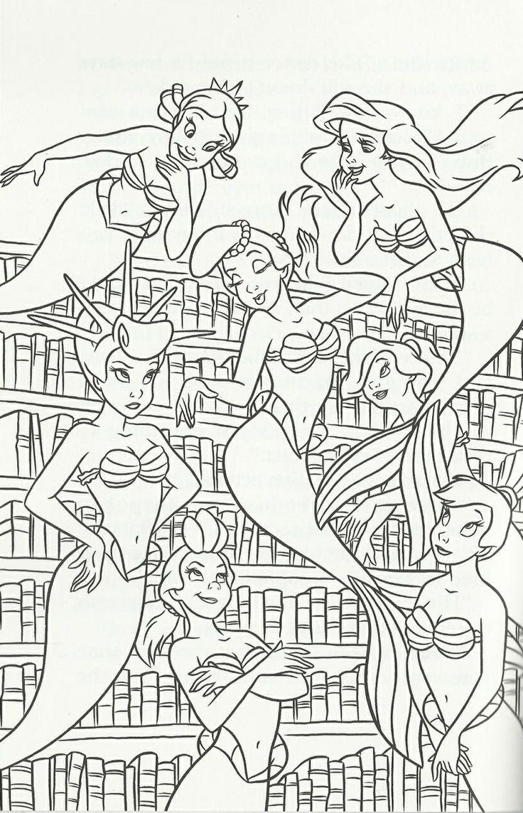 372 Best Ariel Coloring Pages Images On Pinterest