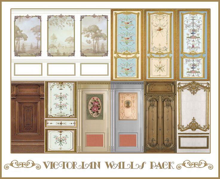 Victorian Walls Pack Sims 4 Designs Sims 4 Walls