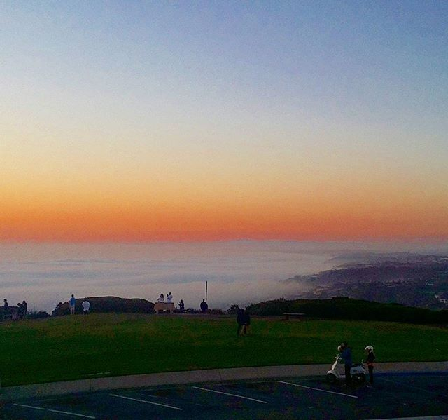 Low dense fog creeping in . . . #mountsoledad #lajolla #sandiego #california #sunset #cold #fog #clouds #sky #hills #lajollalocals #sandiegoconnection #sdlocals - posted by John Lisenby  https://www.instagram.com/lisenbyjp. See more post on La Jolla at http://LaJollaLocals.com