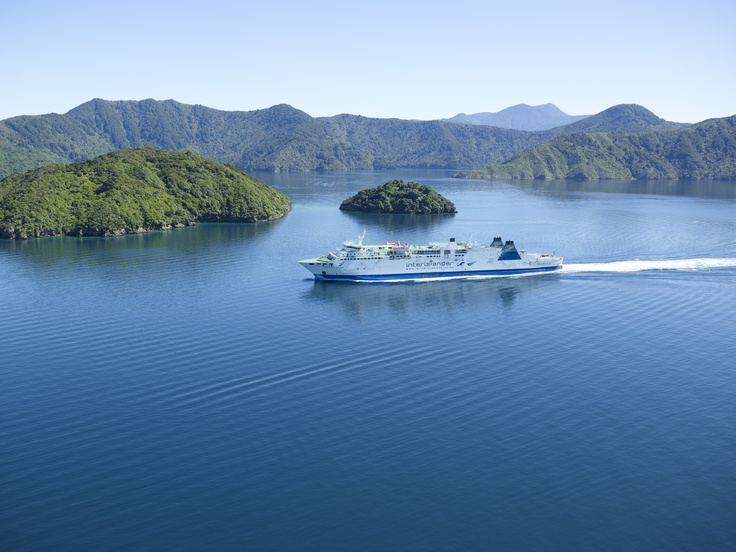 Aratere cruising through the majestic Marlborough Sounds
