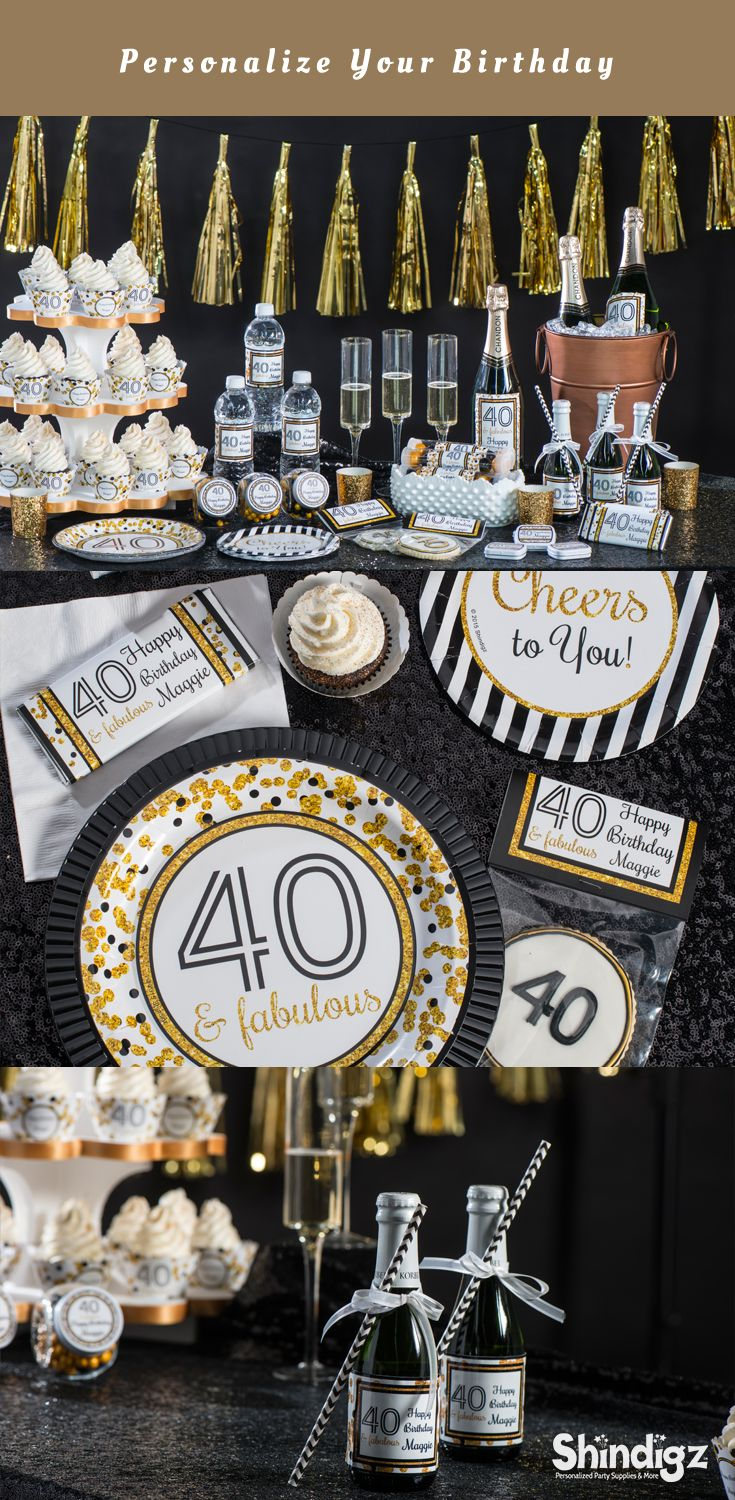 Our Cheers To You Party Supplies Will Make Turning 40 Feel Fabulous Adult Birthday PartyMan Birthday40th