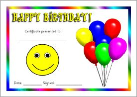 The 25 best birthday certificate ideas on pinterest student printable birthday award certificates for early years sparklebox yadclub Images