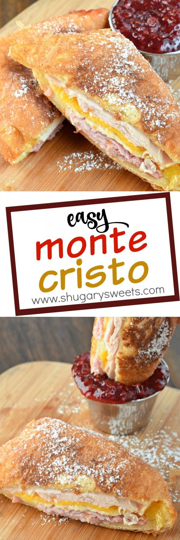 An easy Monte Cristo Sandwich recipe! Never had one? This is the recipe to try first!