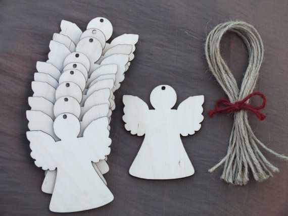 10x Wooden Angel Rustic Decoration Gift by WoodcraftBoutique, £3.45