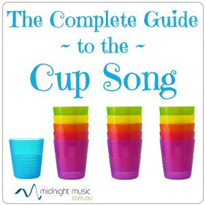 Directions and history of the cup song.