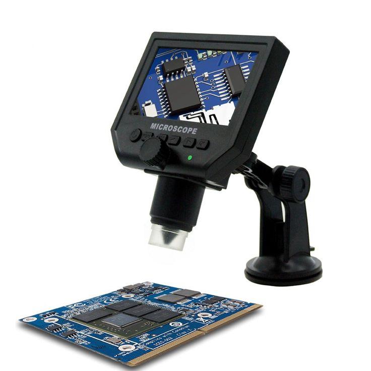 """1-600x 3.6MP usbデジタル電子顕微鏡ポータブル8 led vga顕微鏡で4.3 """"hd oledスクリーン用pcbマザーボード修理"""