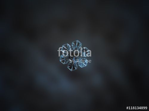 """Download the royalty-free photo """"Snowflake on dark blur cyan blurred background. This is macro photo of real snow crystal with good symmetry and short, broad arms."""" created by Alexey Kljatov at the lowest price on Fotolia.com. Browse our cheap image bank online to find the perfect stock photo for your marketing projects!"""