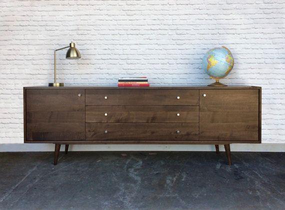 Greenwoods Credenza / Dresser - Solid Maple - Dark Walnut Finish