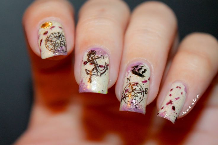 ☠⚓☸ Pirate Nailstorming by diamant sur l'ongle