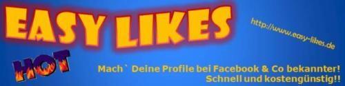 """Ganz easy Facebook-Fanpage-Likes erhalten von Easy Likes  Wir bieten Ihnen derzeit folgende Größenordnungen an: 250, 500, 1250 und 1750.  Das Online-Portal """"Easy Likes"""" freut sich auf Ihren Besuch.  http://www.easy-likes.de"""