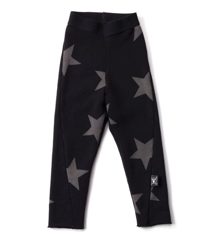 Our Brands :: Nununu :: French Terry Engineered Leggings Black -