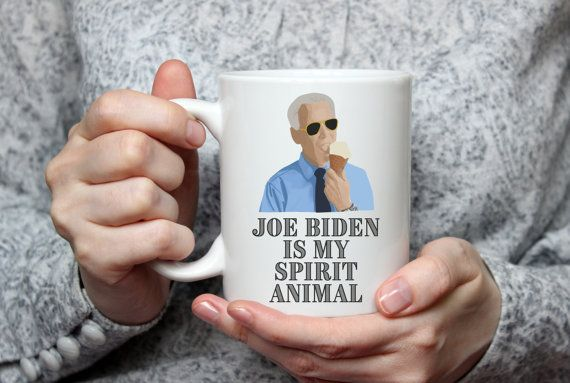 Joe Biden is My Spirit Animal | Vice President | Ice Cream | Politics | Meme Coffee Mug by JitterMug