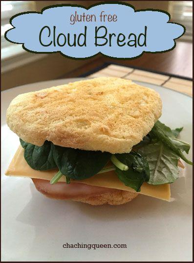 Gluten Free Sandwich Bread - Cloud Bread with Eggs Paleo Recipe (Healthy Bread Alternative)