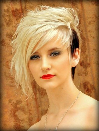 This is what my hair used to look like the cut was awesome but the dark brown was in my fringe not the short side