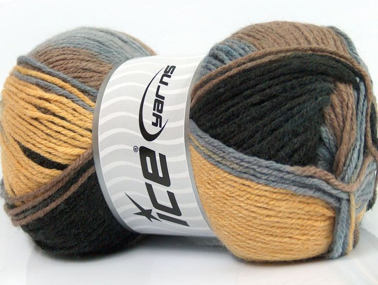 Composition 80% Acrylique 20% Laine Light Blue Brand ICE Grey Camel Black Yarn Thickness 3 Light DK Light Worsted fnt2-41283