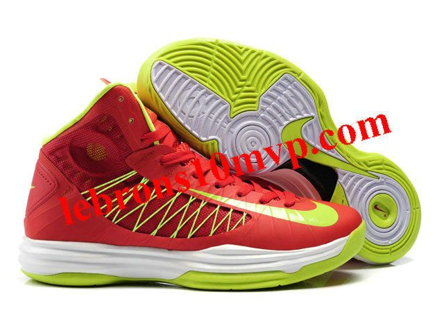 Nike Lunar Hyperdunk X 2012 James Shoes Red/Yellow/White
