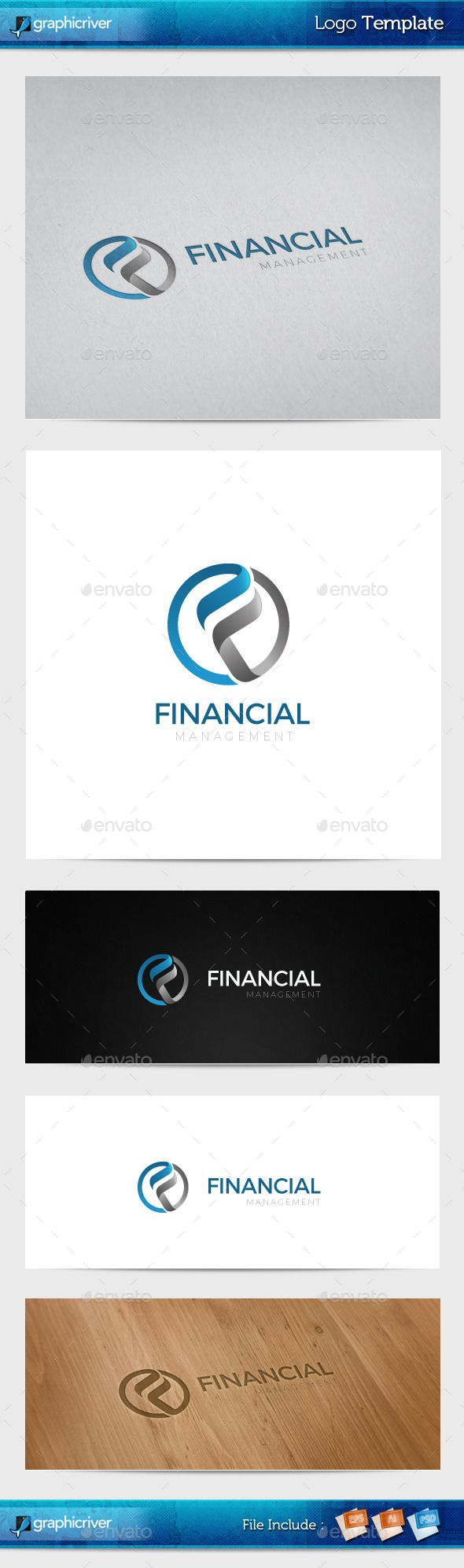 Financial Management Logo Template — Photoshop PSD #business #global • Available here → https://graphicriver.net/item/financial-management-logo-template/10938945?ref=pxcr