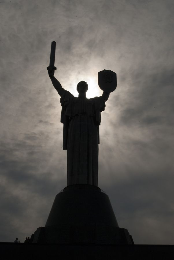 The statue of Motherland in Kiev