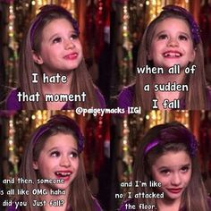 This is my favorite funny thing I attacked the floor comment who your favorite dance moms girl is mine is Mackenzie