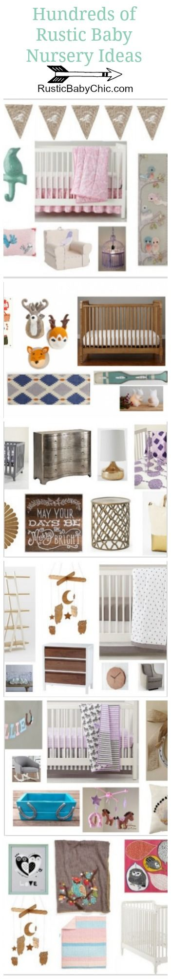 All the best rustic baby nursery ideas and more! All on @rusticbabychic