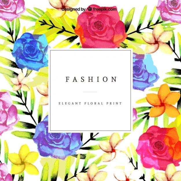 Estampado floral colorido Vector Gratis