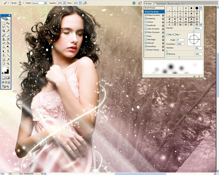 Photoshop tutorial: Fantasy light effects in Photoshop
