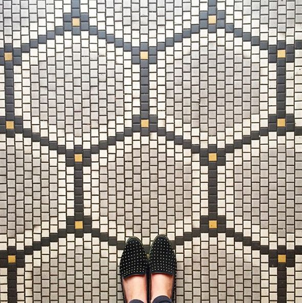 Tile Floor Patterns tile floor pattern These Are Little Square Tiles But The Pattern Would Look Great In Little Hex Tiles Too
