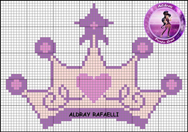 Princess crown pattern by Aldray Ferreira