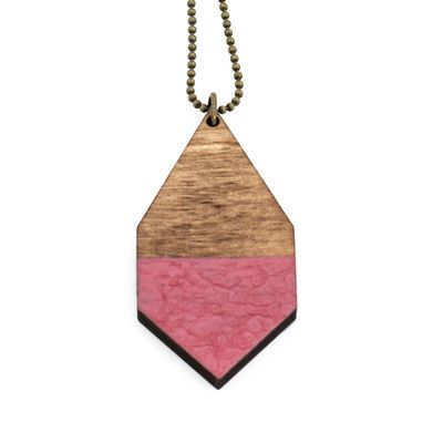 DIAMANTE big necklace in hammered rosewood
