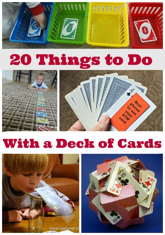 Games, crafts, math & engineering challenges -- all using a deck of cards!