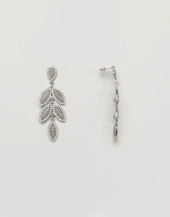 True Decadence Statement Leaf Drop Earrings