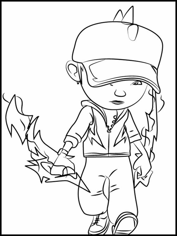 Printable Coloring Pages For Kids Boboiboy 2 Sketsa Warna Gambar