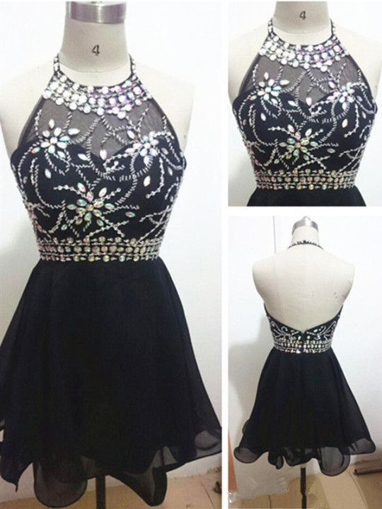 Halter Short Prom Dresses,Charming Homecoming Dresses,Homecoming Dresses, Short
