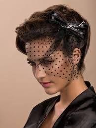 Image result for blusher hat veil black birdcage veil