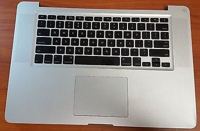 """2008 Apple MacBook Pro A1286 Unibody 15"""" Top Case Keyboard 661-4948"""
