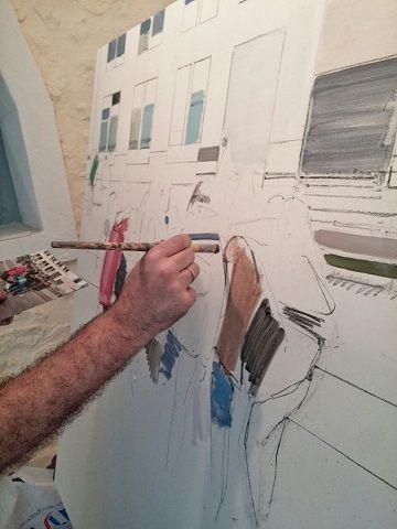 simposio internacional de artistas. Sianoja 2017. Manolo Saenz Messia . Angel Hurtado de Saracho. 2jpg  #artist   #art #paint #painting #color #colour  #arte #artistas #cantabria #Noja #painting #artist #artista #arte #Palacio Albaicín #Simposio #artistas #Internacional #cuadro #paint