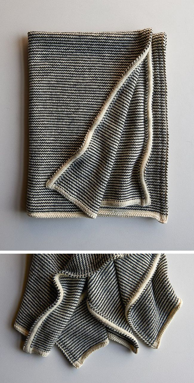 Here I am adding to my list of blankets I'd love to nap under but don't have the patience to knit! But being a sucker for clever construction, I can't let this one go unremarked: …