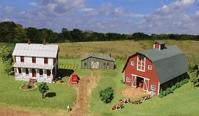 American Model Builders Midwest Farm Combo Kit N Scale