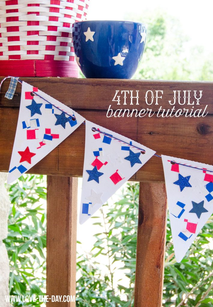 july 4th holiday banners