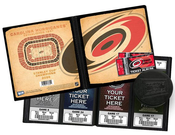 Personalized Carolina Hurricanes Ticket Album - Officially Licensed by the NHL