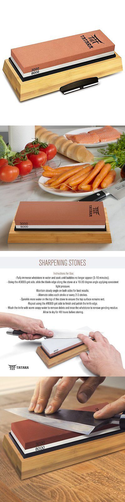 Sharpeners 116005: Tatara Sharpening Stone 3000 And 8000 Grit - Double Sided Japanese Whetstone Set -> BUY IT NOW ONLY: $43.01 on eBay!