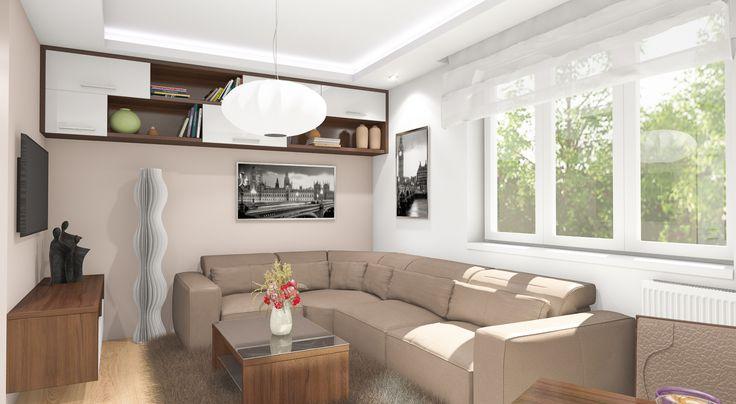 Obývací pokoj k odpočinku a lenošení