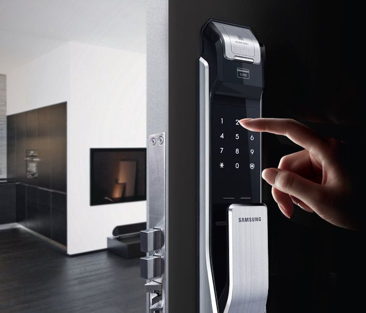 Effortlessly secure your home with the latest technology with the Samsung Two Way Fingerprint #DoorLock.